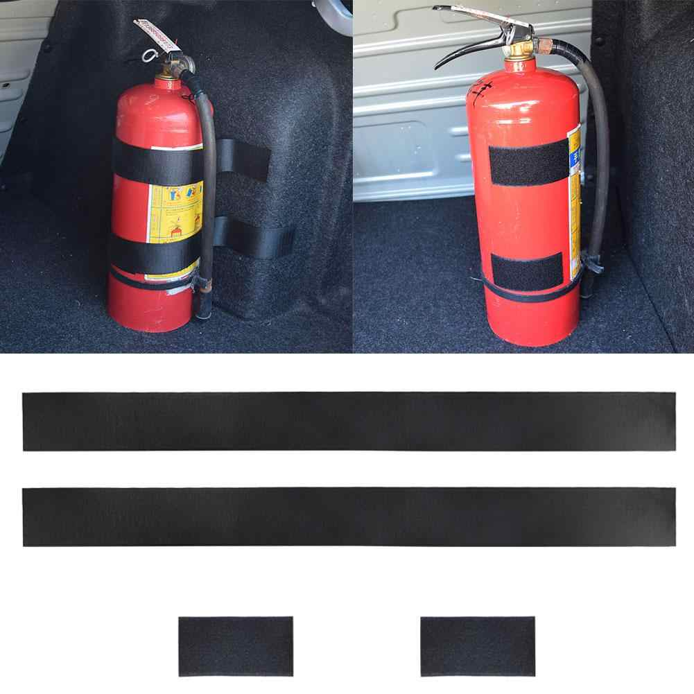 4Pcs/Set Car Vehicle Trunk Fire Extinguisher Fixing Belts Strong Magic Tape