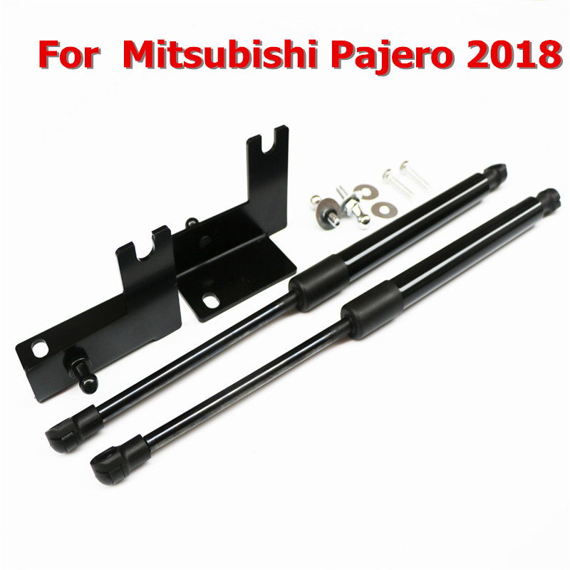 For Mitsubishi Pajero 2018 Front Hood Engine Supporting Hydraulic Rod Lift Strut Spring Shock Bars Bracket Car Accessories