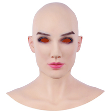 KOOMIHO Beatrice Goddess Soft Silicone Realistic Female Head Mask Handmade Makeup Mask Top masquerade Cosplay Mask Transgender3G  - buy with discount