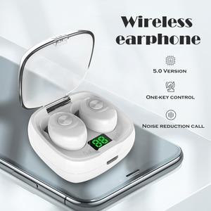 Bluetooth Earphone Wireless headphone Sport Earpiece Mini Headset Stereo Sound In Ear IPX5 Waterproof tws 5.0 power display(China)
