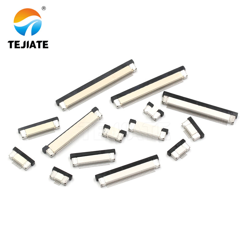 10Pcs FPC FFC 0.5mm Pitch 28Pin Drawer Type Ribbon Flat Connector Bottom Contact