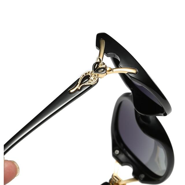 2020 Classic Womens Oversized Sunglasses Brand Designer Polarized Sunglasses Ladies Rhinestone Temple Shades Eyewear 3