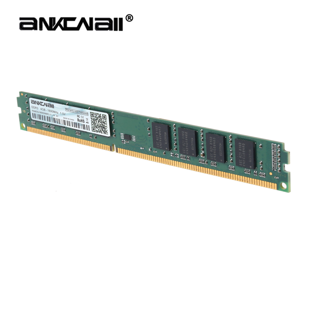 ANKOWALL DDR3 Desktop RAM with 2GB/4GB Capacity and 1866MHz/1600Mhz Memory Speed 13