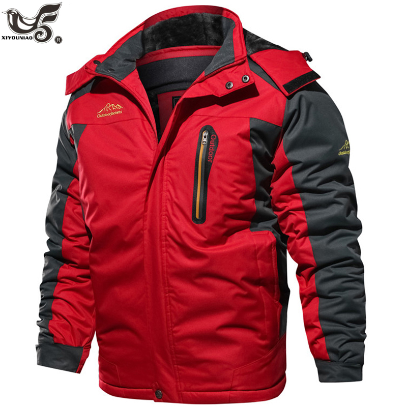 Winter Jacket Men Fleece Thick 7XL 8XL 9XL Men's Windbreaker Parka Coat Outwear Breathable Waterproof Jacket Men Brand Clothing