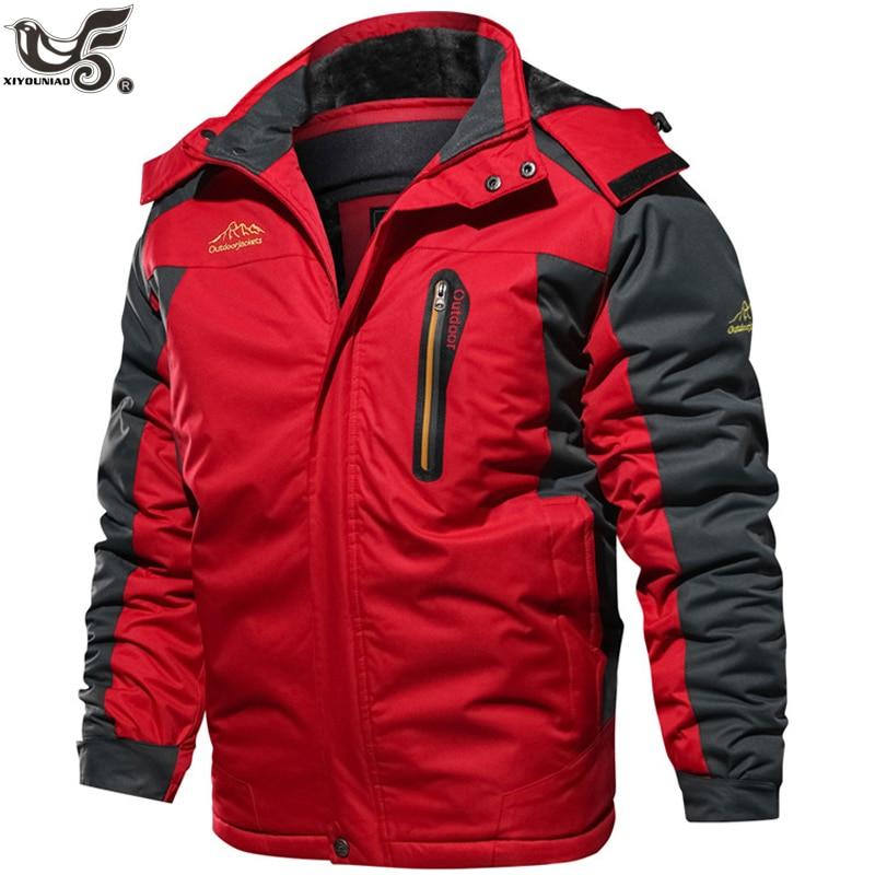 Winter Jacket Men Fleece Thick 7XL 8XL 9XL Men's Windbreaker Parka Coat Outwear Breathable Waterproof Jacket Men Brand Clothing