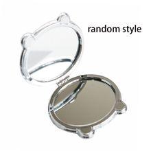 Дамские девушки милый мультфильм панда Печать Путешествия Портативный круглый складной мини карманное зеркало для макияжа двухсторонний студенческий подарок случайный