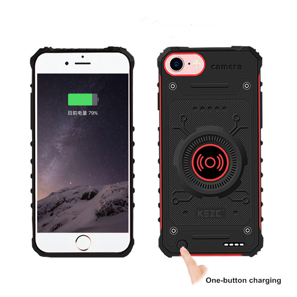 KQJYS External Powerbank Charging Power <font><b>Bank</b></font> For <font><b>iPhone</b></font> <font><b>7</b></font> 8 6 6s Wireless Phone <font><b>Battery</b></font> Charger <font><b>Cases</b></font> image