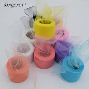 Tutu-Skirt Gauze Crystal Tulle-Roll Organza Sheer Girls Shiny Wedding-Party-Decor Multicolor