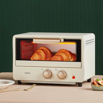 EZSOZO 12L 750W piekarnik elektryczny gospodarstwa domowego wielofunkcyjny minipiekarnik poziome 2 warstwy poziomego pieca urządzenia kuchenne do gotowania piec do pizzy pizza oven mini piekarnik tanie i dobre opinie HAEGER 11-20l 800 w 110V-240V CN (pochodzenie) Elektryczne Płyta grzejna kuchenka Pojedyncze Z aluminium Mechaniczny minutnik