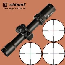 все цены на ohhunt Thin Edge 1-6X28 IR Hunting Scope Optical Sight Glass Reticle Illuminate with Turrets Reset Tactical Shooting Riflescope онлайн