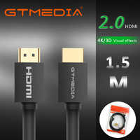 GTMEDIA Cable HDMI 2,0 4K 60Hz de fibra de Cable HDMI óptica 2,0 2.0a 2.0b HDR HDCP2.2 para caja HDTV para proyector PS4 Cable HDMI 1m 2m 3m