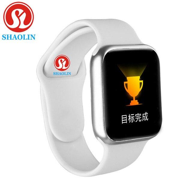 Su geçirmez akıllı İzle erkekler kalp hızı Smartwatch 38MM akıllı İzle kadınlar erkekler için Apple Watch IOS Android telefon İzle serisi 5 IWO