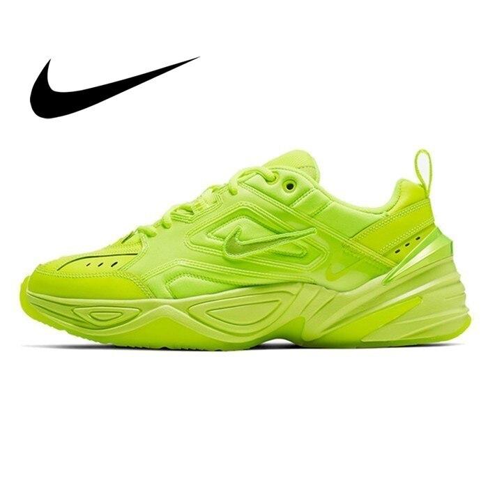 Zapatillas de correr auténticas Nike M2k Tekno para hombre, zapatillas deportivas fluorescentes de Color verde, novedad de 2019, CI5749 BIGFIRSE zapatillas de deporte para Hombre, venta al aire libre, Zapatos de tendencia transpirable para Hombre, mocasines, nuevos Zapatos para Hombre, Zapatos de moda para hombres con cordones