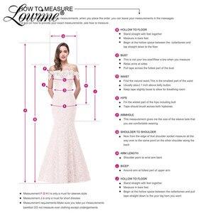 Image 5 - Vestido rosa De sirena con hombros descubiertos para mujer, vestido De noche para fiesta, hecho a mano, De flores, 2020