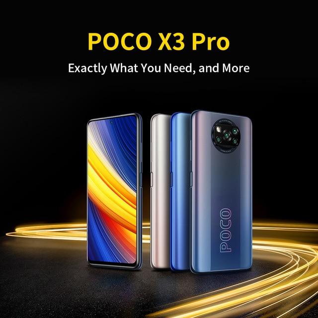 POCO X3 Pro 6GB+128GB/8GB+256GB Xiaomi Smartphone Snapdragon 860 120Hz DotDisplay 5160mAh 33W Charge Quad AI Camera 2