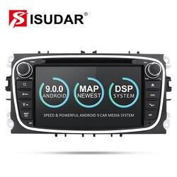 Isudar Автомобильный мультимедийный плеер Android 9 gps автомобильный dvd-плеер с двумя цифровыми входами для FORD/Focus/S-MAX/Mondeo/C-MAX/Galaxy wifi Автомобильный к...