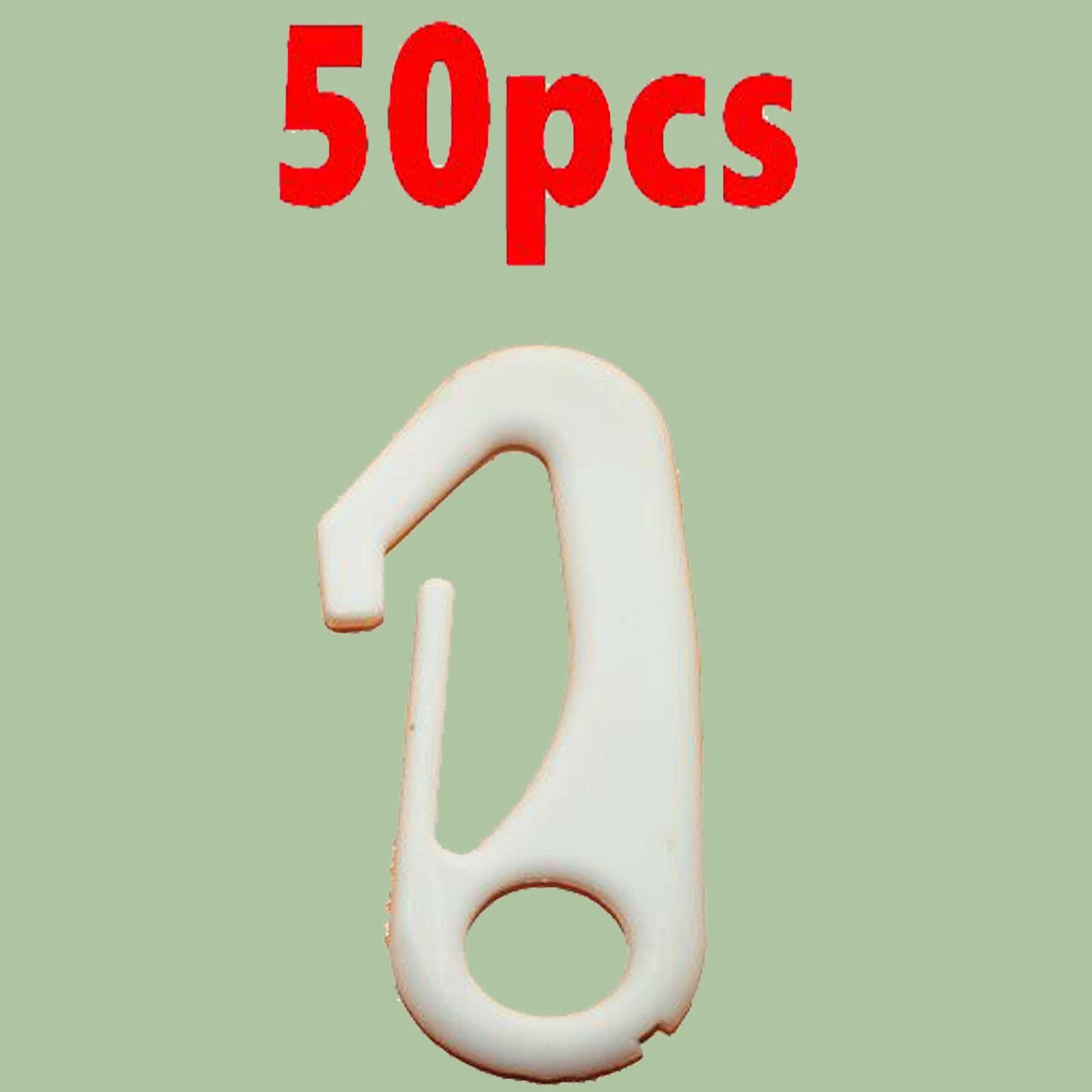 more quiet than metal 50x Nylon Flag Pole Clip Snaps Hook Flag Pole Attachment