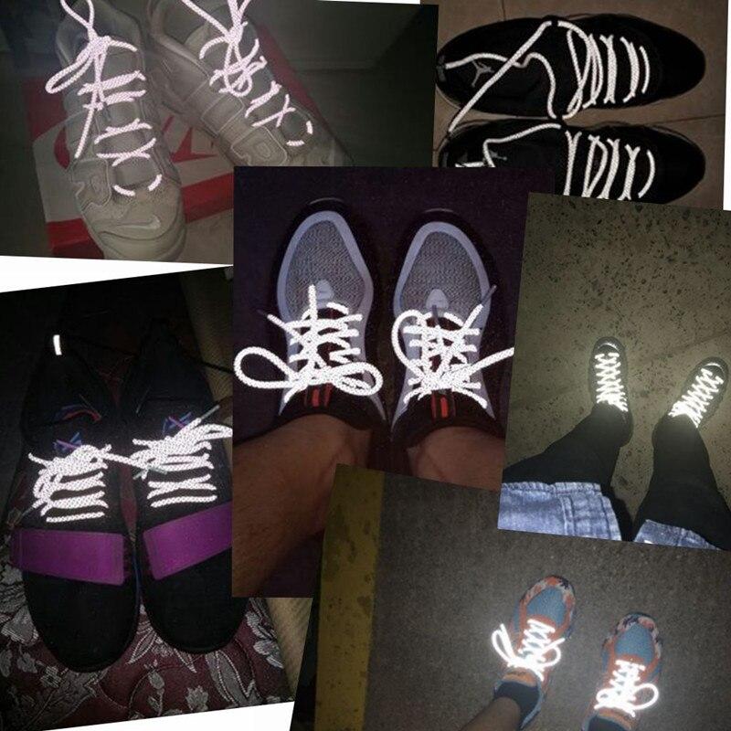 Coolstring крутые 3M светоотражающие шнурки для обуви, спортивные безопасные кроссовки с шнурками для бега в ночное время