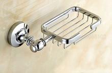 купить Polished Chrome Soap Dishes Wall Mounted Soap Dish Soap Holder Box Soap Basket Holder Bathroom Accessories zba810 по цене 1579.99 рублей