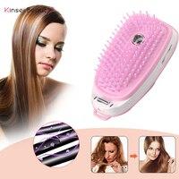 Elektrik iyonik saç tarak Mini Nano sprey saç tarak saç masaj saç fırçası taşınabilir tarak fırça Anti-statik kızlar saç fırçası