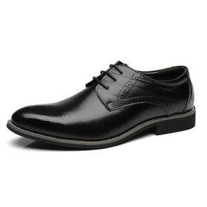 Image 5 - REETENEหนังอิตาลีชี้นิ้วเท้ารองเท้างานแต่งงานรองเท้าผู้ชายหนังผู้ชายชุดรองเท้าผู้ชายOxfords