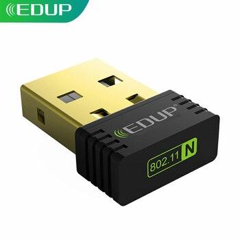 Edup mini usb wifi adaptador sem fio 150 mbps alta qualidade wi-fi receptor 802.11n usb ethernet adaptador wi-fi placa de rede para pc