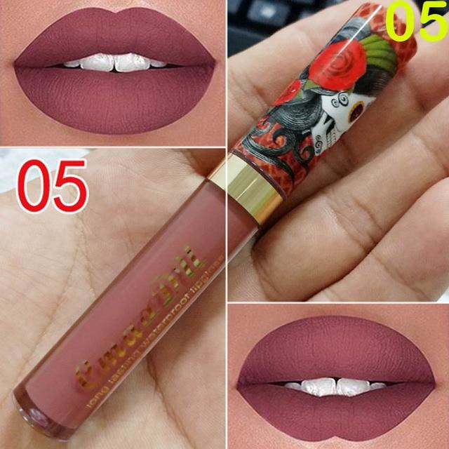 Cmaadu 6 Color Velvet Matte Liquid Lipstick Waterproof Long Wear Lip Gloss Makeup Nude Rouge Tattoo Lips Tint Women Cosmetic 5