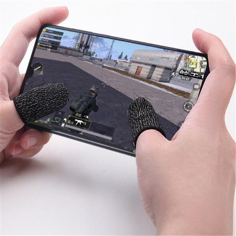 2pcs/pair Full Touch Screen pubg Gamepad Fingertips Sweat-proof Anti-static Mobile Phone Tablet Finger Sleeve Gloves