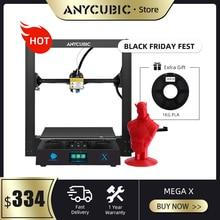 ANYCUBIC i3 메가 업 그레 이드 메가 X 300*300*305mm 3d 프린터 대형 플러스 인쇄 크기 Meanwell 전원 공급 장치 Ultrabase impresora 3d