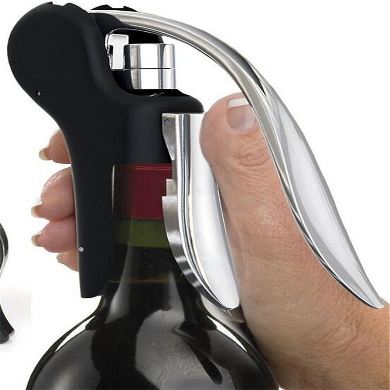 New Lever Type Wine Bottle Opener Wine Black Goose Head Zinc Alloy Household Bar Fast And Convenient Bottle Opener For Kitchen