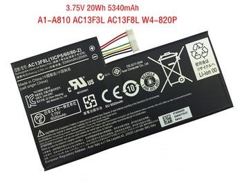 3.75V 20Wh 5340mAh New AC13F3L AC13F8L Tablet Battery for Acer Iconia Tab A1-A810 A1-A811 W4-820P W4-820 1ICP5/60/80-2