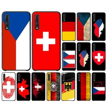 YNDFCNB Czech Republic switzerland germany flag Phone Case For Huawei P10 20 30 40 Lite P20Pro P30Pro P40Pro Psmart image