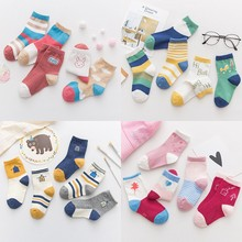 5Pairs/lot Infant Baby Socks Cartoon  soft for Girls Cotton Newborn Boy Toddler Clothes Accessories