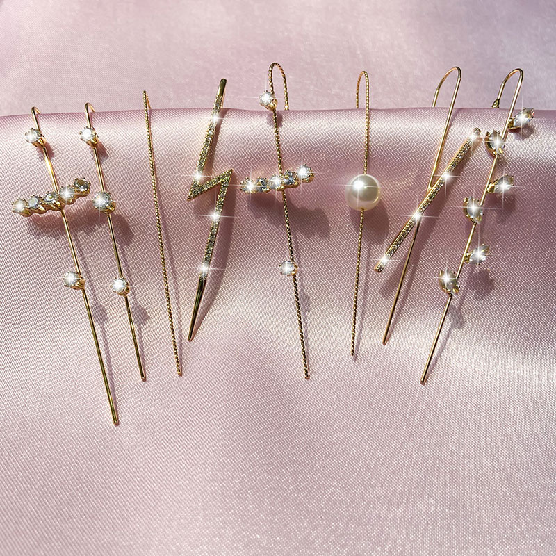 1pcs Body Jewelry Piercing Earrings for Women Fashion AAA Australia Crystal Dangle Earring Female Engagement Jewelry Gifts
