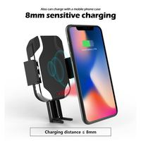 W06 10W Car QI Wireless Charger Car Mount Mobile Phone Fast Charging Stand Holder For IOS Android For IPhone X Samsung S10 S9 S8