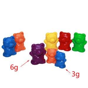 Image 2 - Montessori Lote de 12 unidades de osos de conteo de 6 colores, juguetes educativos para niños pequeños, clasificación de color, herramientas de aprendizaje de matemáticas