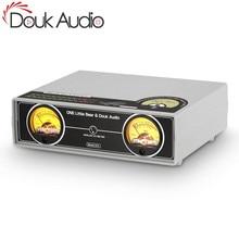 Douk Audio Dual Analog VU Meter Panel DB Audio Sound Level Display Indicator for Mixer Amplifier Preamp