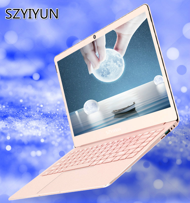 14 Inch Portable Business Laptop J3355 8G RAM Fashion Rose Gold Metal Portable Notebook IPS Work Computer Student Learn Netbook