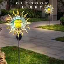 Lamp Flame-Light Outdoor-Lights Sun-Moon LED Landscape Solar Waterproof