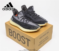 Original Adidas Yeezy 350 Boost V2 Zebra Knitted Upper Boost Midsole Men's Women's Sports Running Shoes Size 36-45