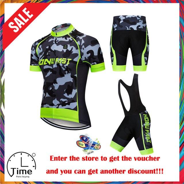 Cyclisme Jersey ensemble 2020 été hommes cyclisme vêtements course vélo vêtements costume respirant vtt vélo vêtements Ropa bicicleta