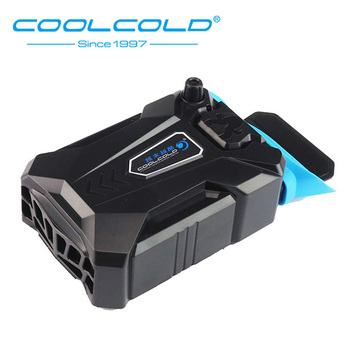 COOLCOLD Portable Notebook Laptop Cooler USB Air External Extracting Cooling Pad Fan for Laptop Speed Adjustable for 15-17 Inch mini portable vacuum usb laptop cooler air extracting exhaust lcd temperature display cooling fan cpu cooler for notebook laptop