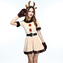 Halloween Cosplay Costume Dress Christmas Princess Make-Up Xmas Outfit Elk Festival Deer
