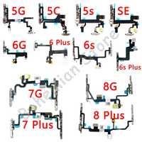 Power Flex Für iPhone 6 6s 7 8 Plus 5C 5 5s SE 7G 8G 6G Stumm & Volume Button Switch Key Power Flex Kabel Mit Metall Teile