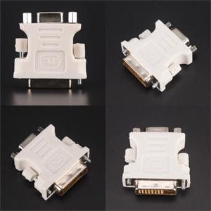 24+1 Pin DVI-D-D-M To VGA-F Adapter Video Computer Monitor Adapter - 25 Pin (Dual Link) DVI-D Male To 15 Pin VGA Female