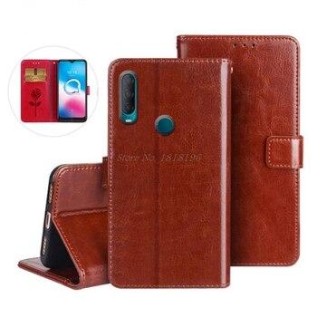 Перейти на Алиэкспресс и купить Чехол для Alcatel 3L 2020, чехол с подставкой, флип-чехол, кошелек из искусственной кожи, сумка для Alcatel 3L 2020 5029Y, защитный чехол для телефона