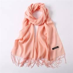 2019 женская Кашемировый Шарф толстые теплые зимние шарфы большой сплошной кисточкой женский шаль обёрточная бумага дамы высокое качество