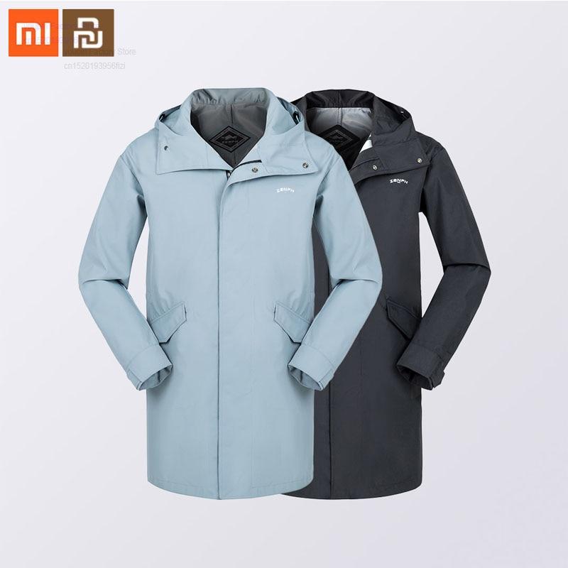 Xiaomi Mijia Sports Casual Windproof Waterproof Long Windbreaker Jacket Couple Loose Waist Hooded Men And Women Autumn Coat