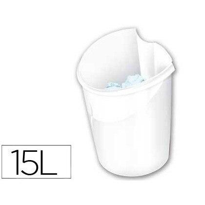 BIN PLASTICO CEP ELLYPSE WHITE 318X278X380 MM