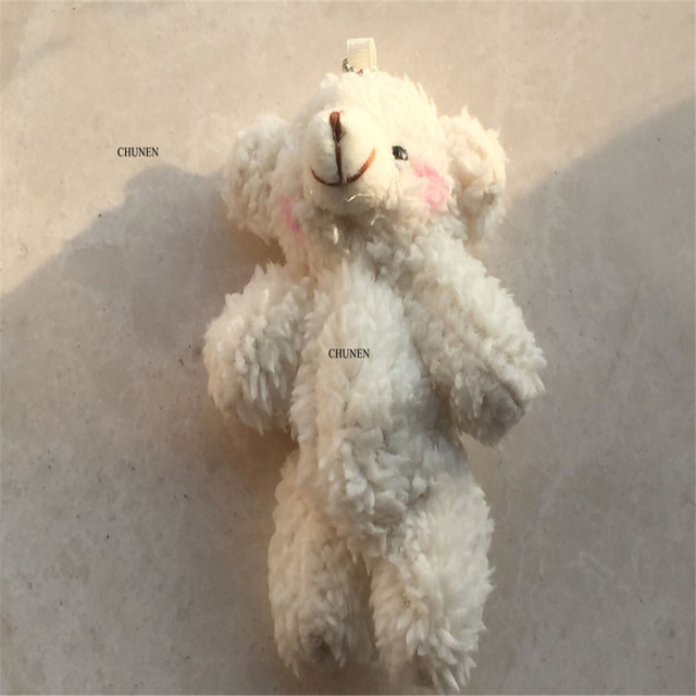 lovely wedding bears , 10CM accessories plush toy , stuffed joint bear doll toy , keychain gifts